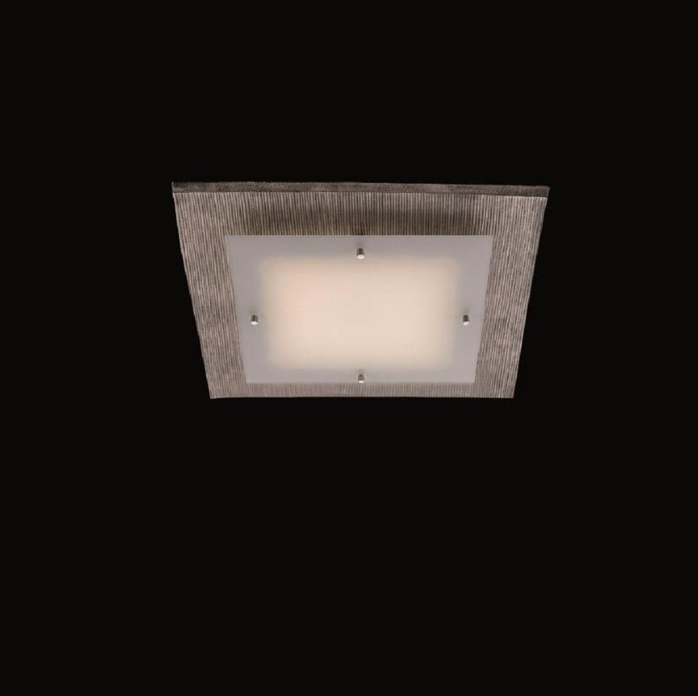 LED-Deckenleuchte - Nickel grau mit Streifen