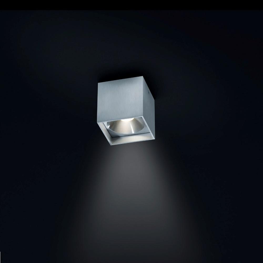 LED-Deckenstrahler Dora 1 in Alu-matt, eckig, 1xLED 4W
