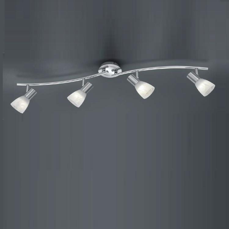 Trio LED-Deckenstrahler Levisto - 4-flammig, Ni...