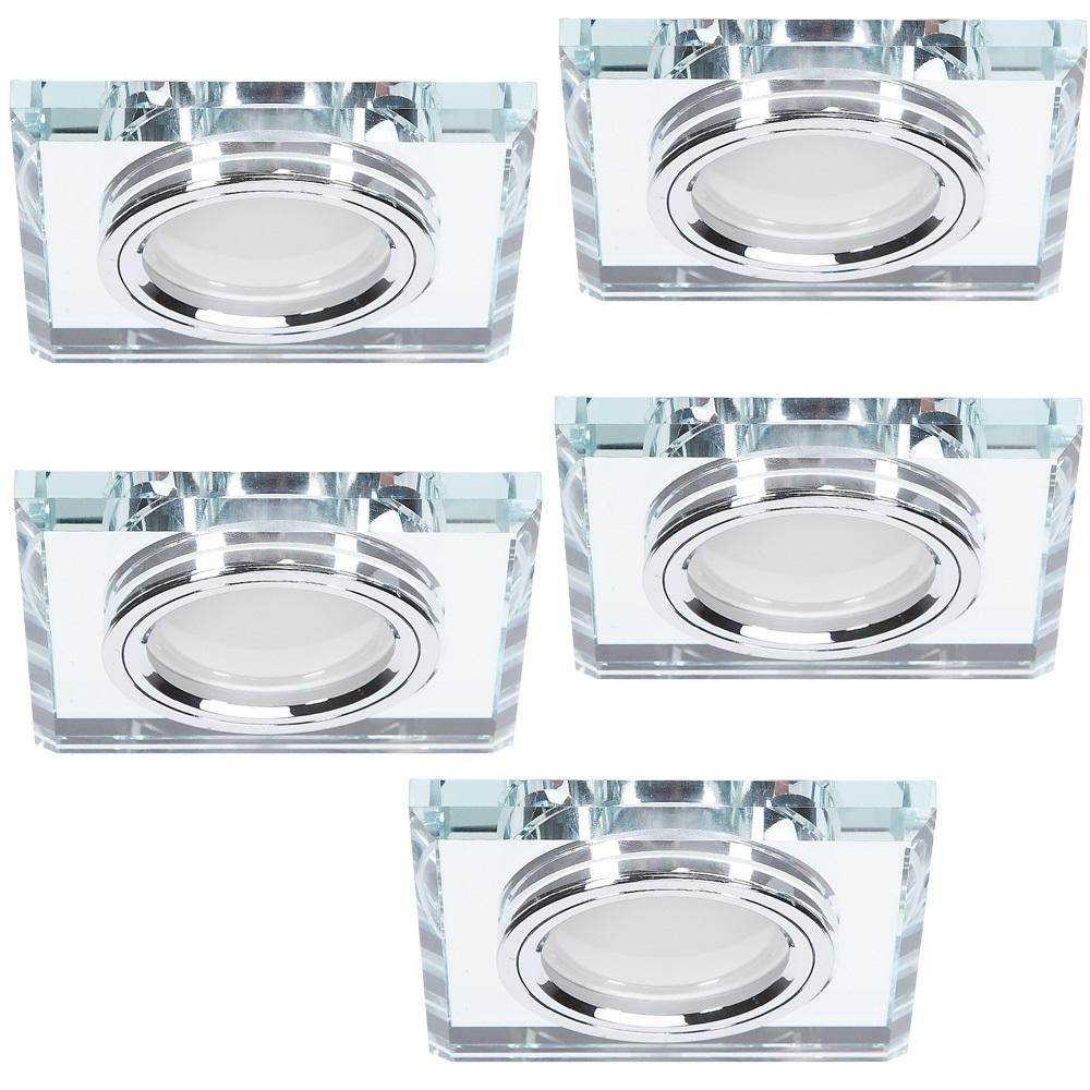 LHG LED-Einbaustrahler 5er Set mit Glasrahmen 4-fach dimmbar 116372   Lampen > Strahler und Systeme > Einbaustrahler   LHG