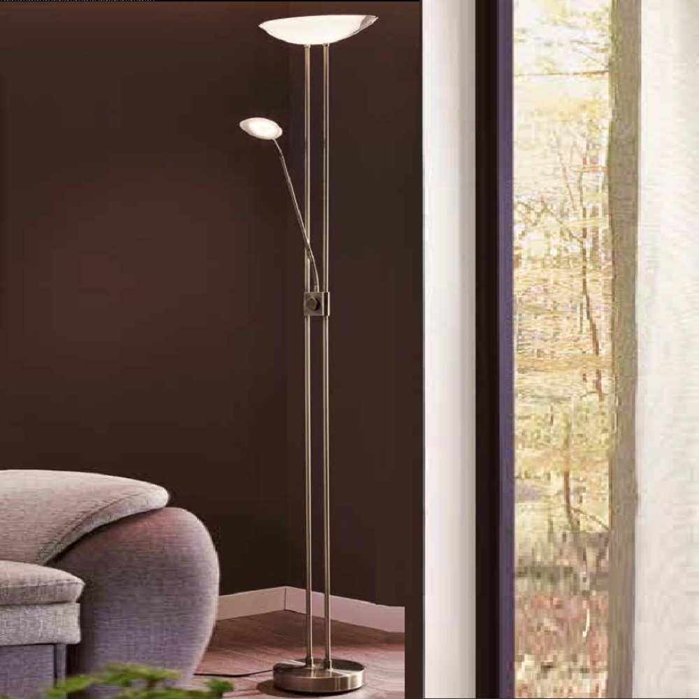 LED-Fluter mit Lesearm, dimmbar, 4 Oberflächen
