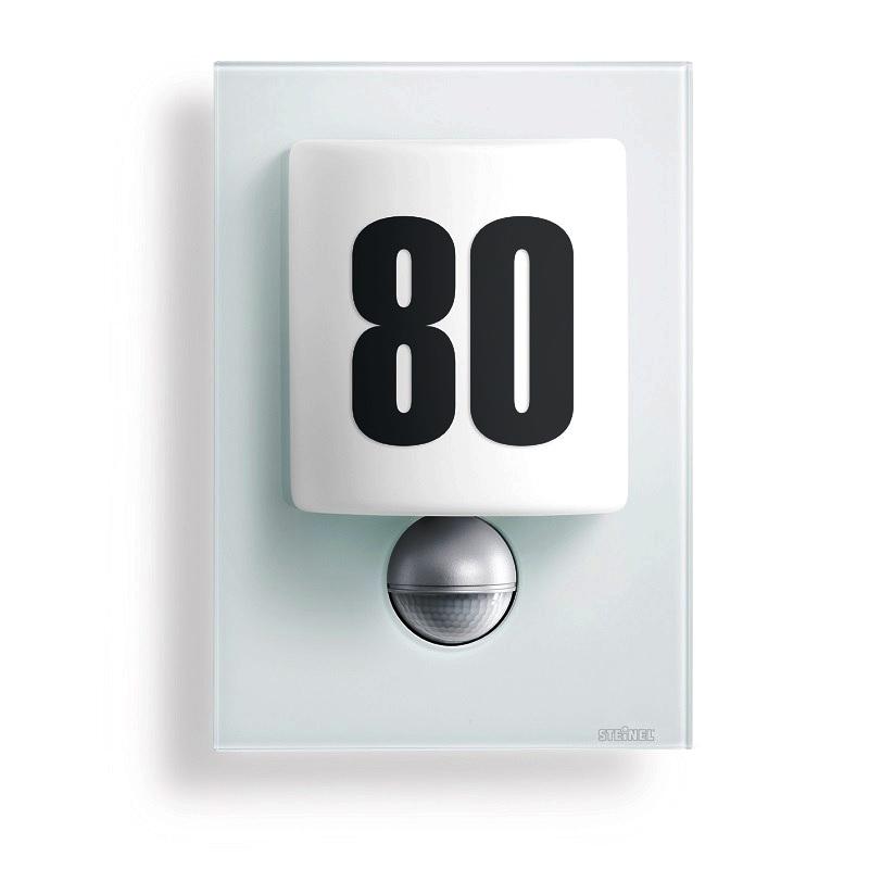 Steinel LED-Hausnummernleuchte, Opalglas mit Klebenummern, in weiß 2x 4 Watt, weiß 003821 | Lampen > Aussenlampen > Hausnummern | Kunststoff - Aluminium | Steinel