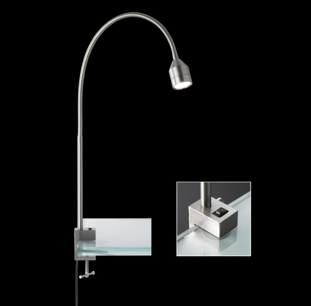 LED-Klemmleuchte Lovi, Schraubklemme