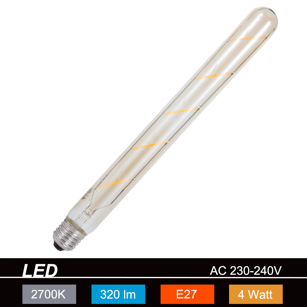 Trio LED-Leuchtmittel E27 4W, braun-getönt, Län...
