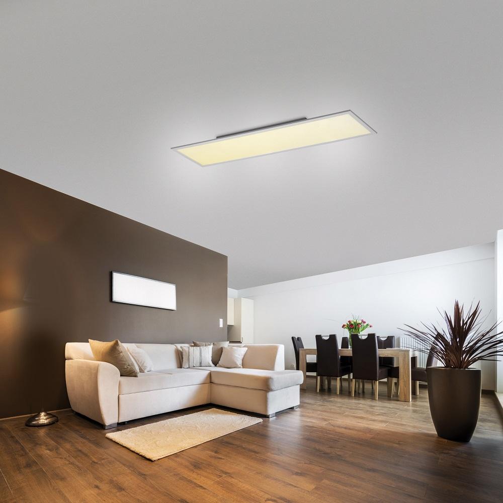 LED-Panel, rechteckig, Deckenleuchte, Fernbedienung, zwei Größen
