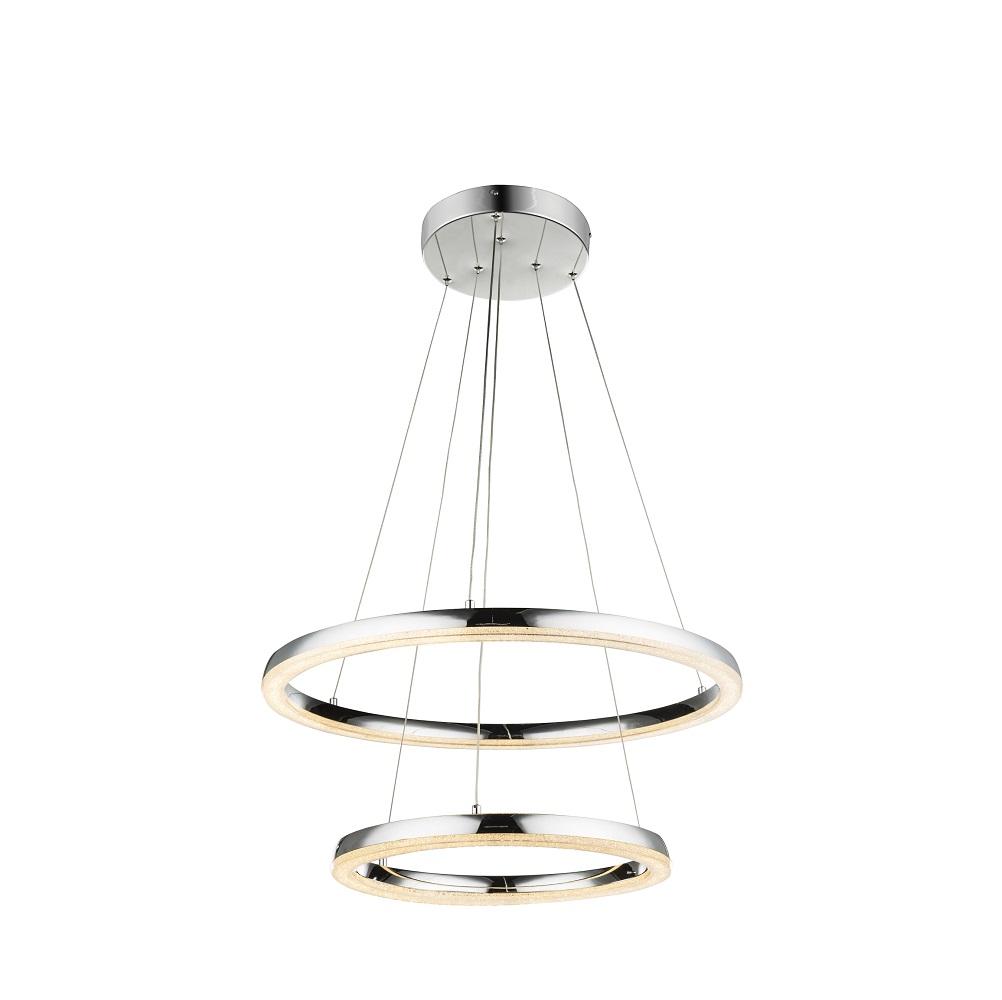 LED-Pendelleuchte in Chrom mit K5 Kristallen, 2 Größen