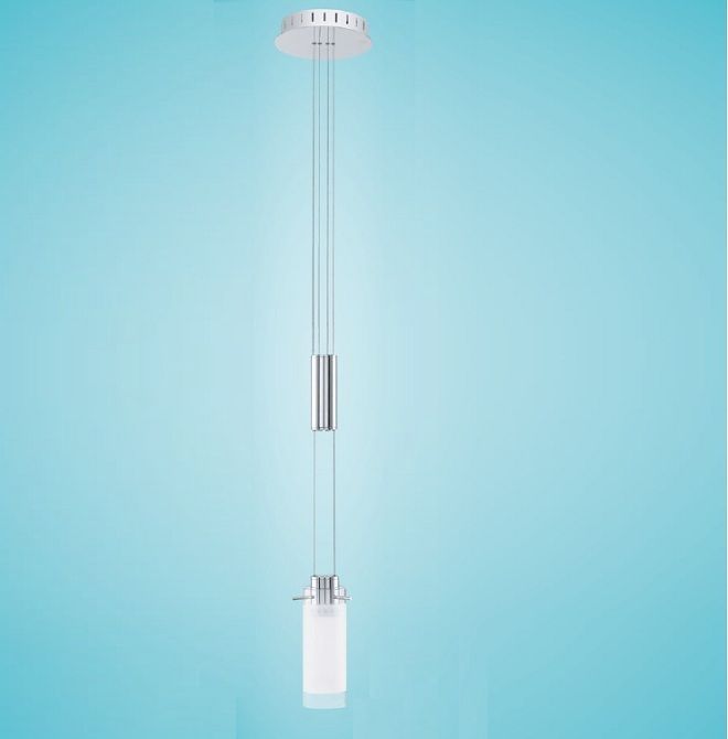 EGLO LED-Pendelleuchte, höhenverstellbar, Glas ...