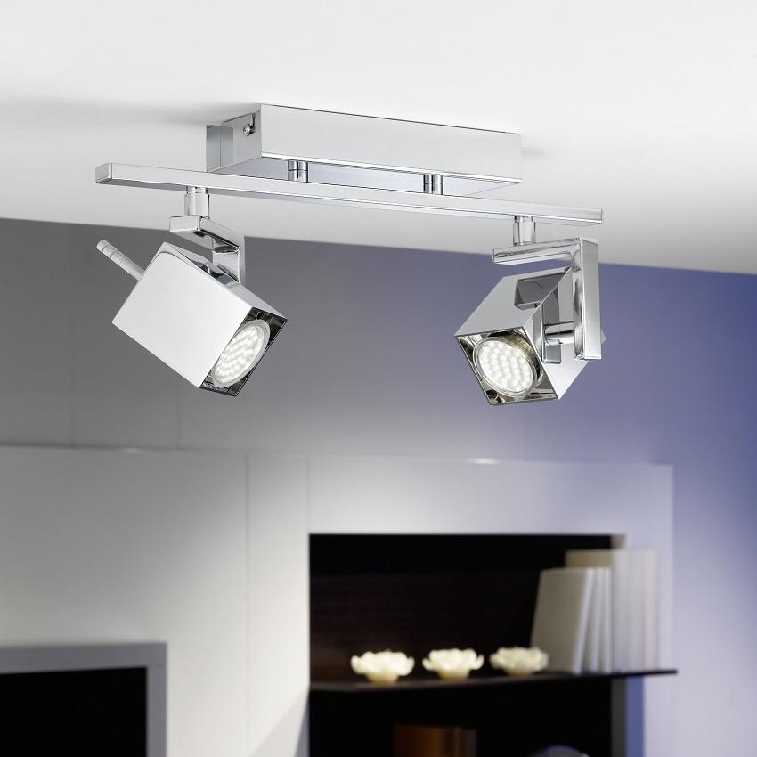 EGLO LED-Spot aus verchromtem Aluminum - 38,5 c...