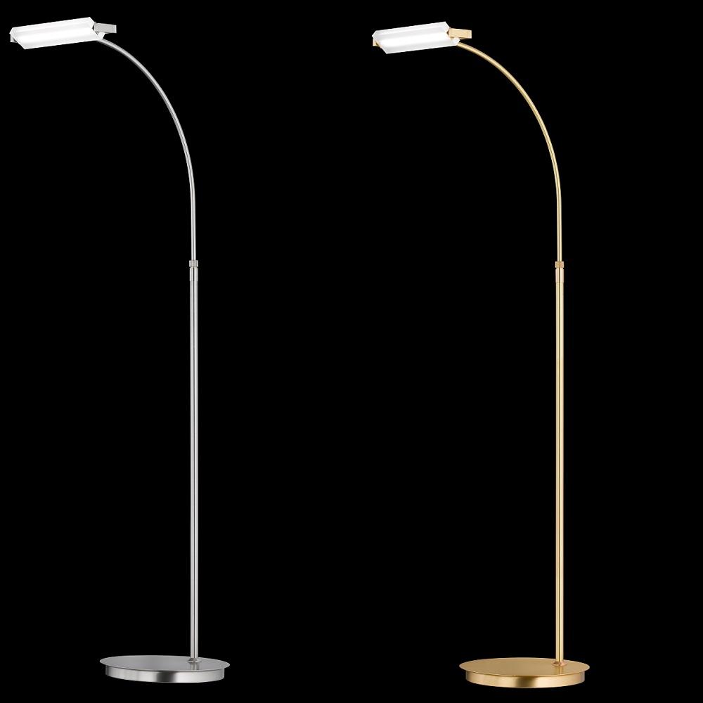 LED-Stehleuchte Turn, 2 Oberflächen, mit Dimmer