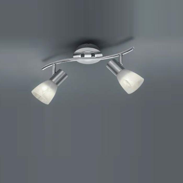Trio LED-Strahler Levisto 2-flammig, Nickel-mat...