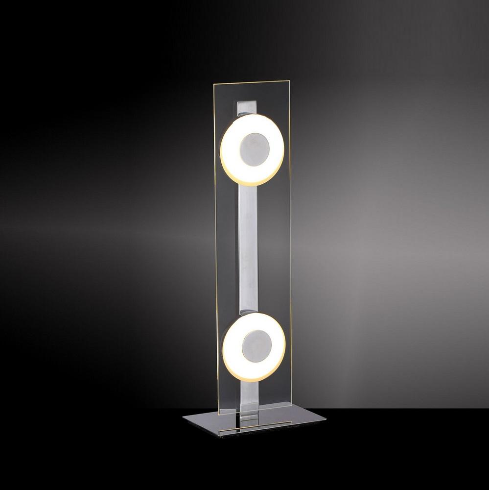 LED-Tischleuchte Chrom/Glas - 2x6Watt LED