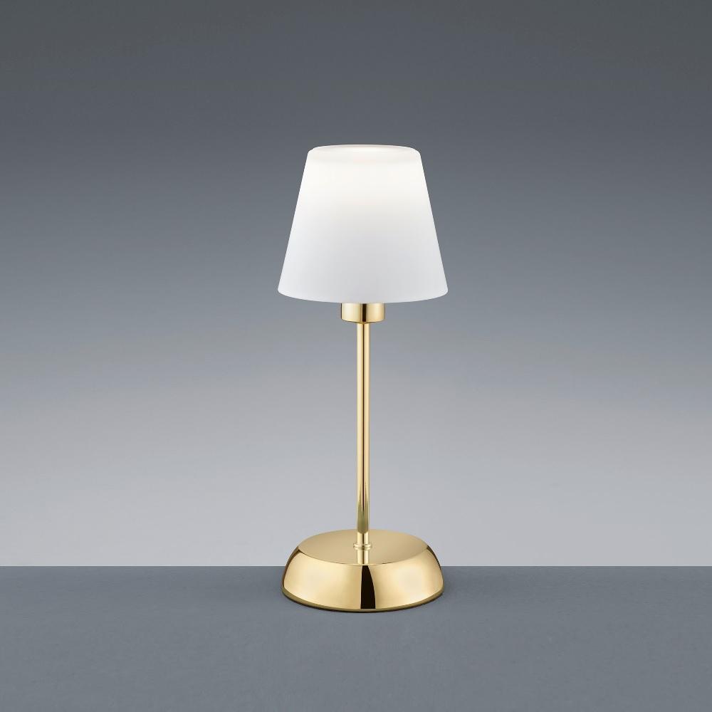 LED-Tischleuchte inklusive E14- Leuchtmittel - Messing poliert