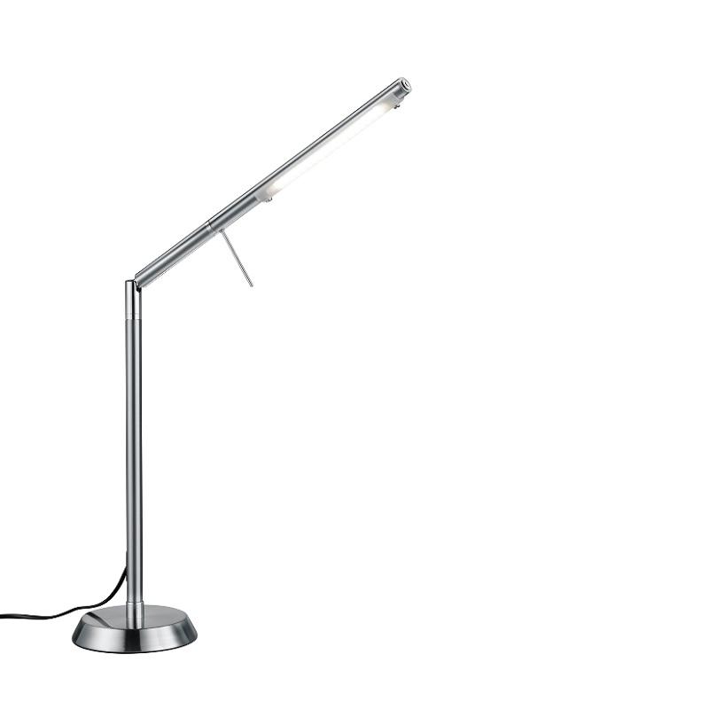 LED-Tischleuchte in Nickel- matt mit Touchdimmer