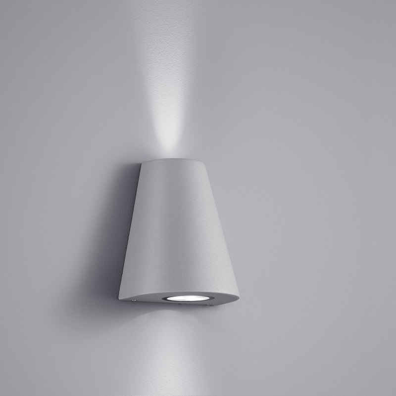 LHG LED-Wandleuchte up and down, 2 x Power-LED, Titan