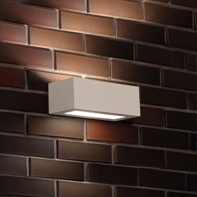 LED-Wandleuchte Korytko, Gips, inkl. 1 x 9W