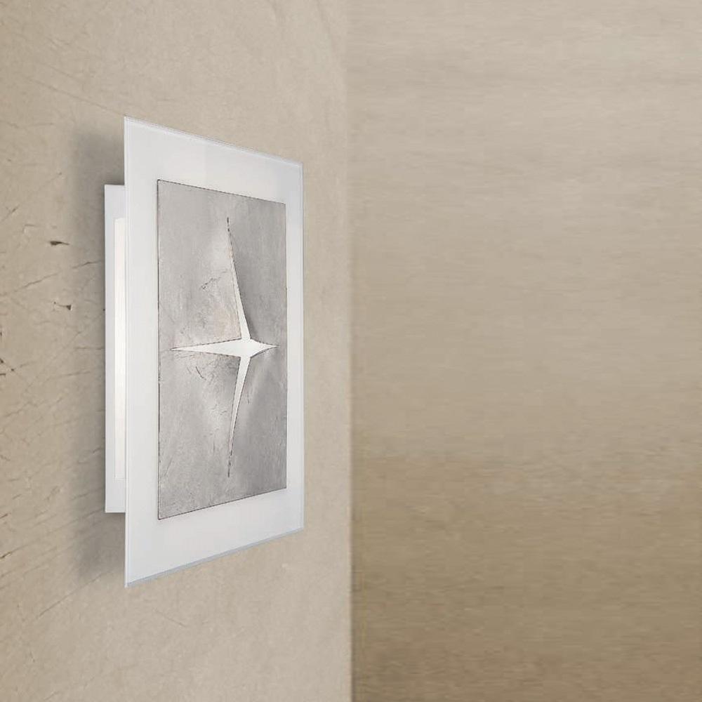 LED-Wandleuchte mit hohem Lichtoutput - 19 Watt, Gold oder Silber
