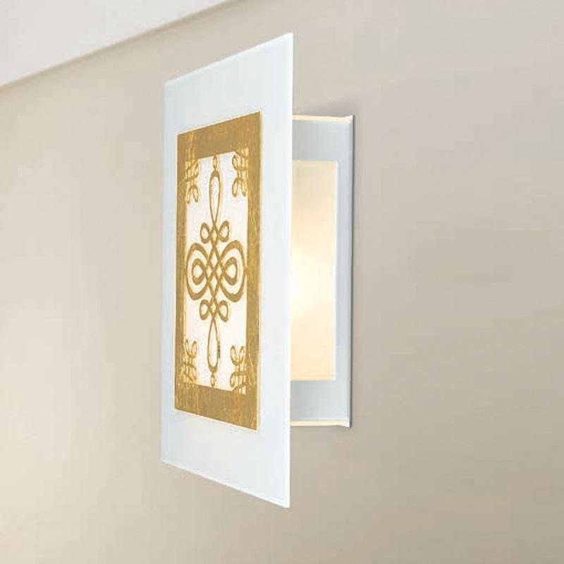 LED-Wandleuchte mit Metall-Ornamentik 4 Farben, 33x30cm