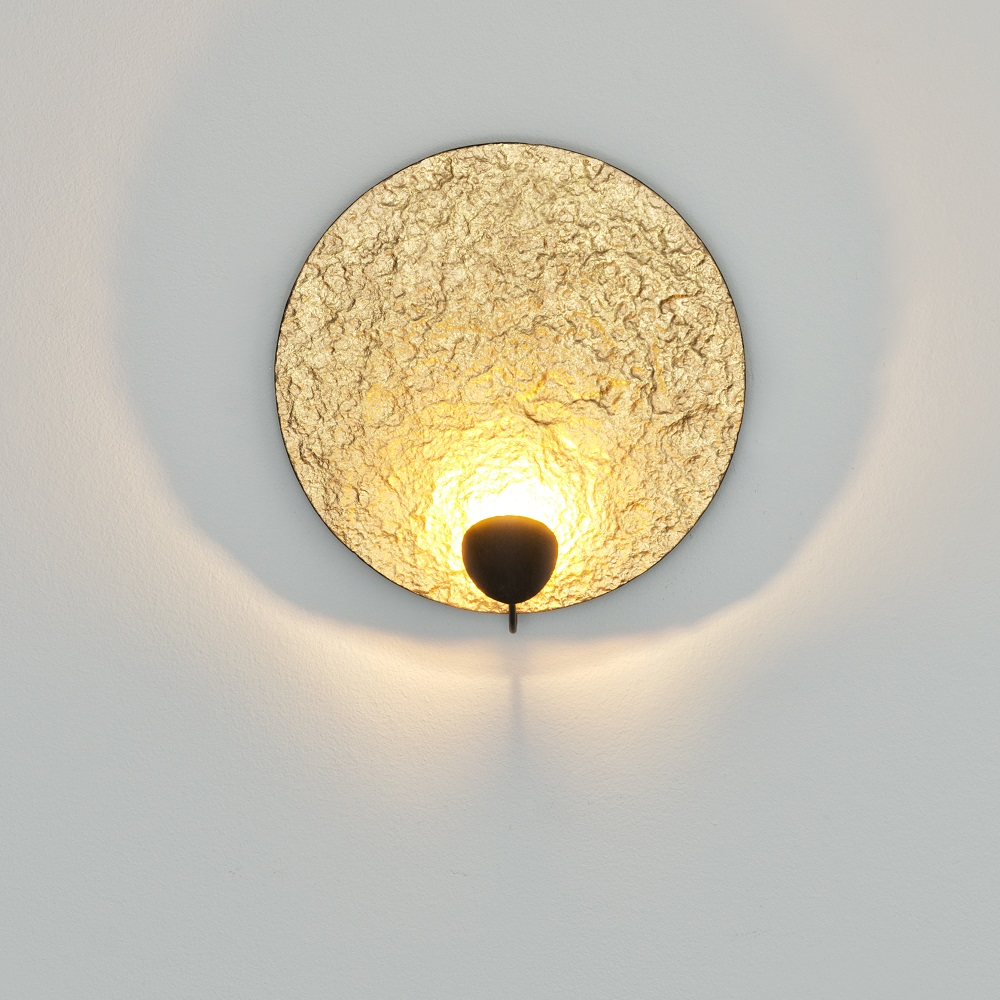 LED-Wandleuchte Traversa, Gold, Design, Handarbeit, Unikat, modern