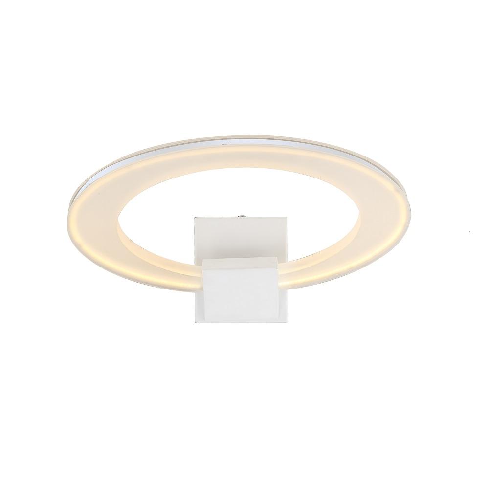 LHG LED-Wandleuchte in weiß 1x 18,2W LED 1420lm 3200K - inklusive  LED Taschenlampe