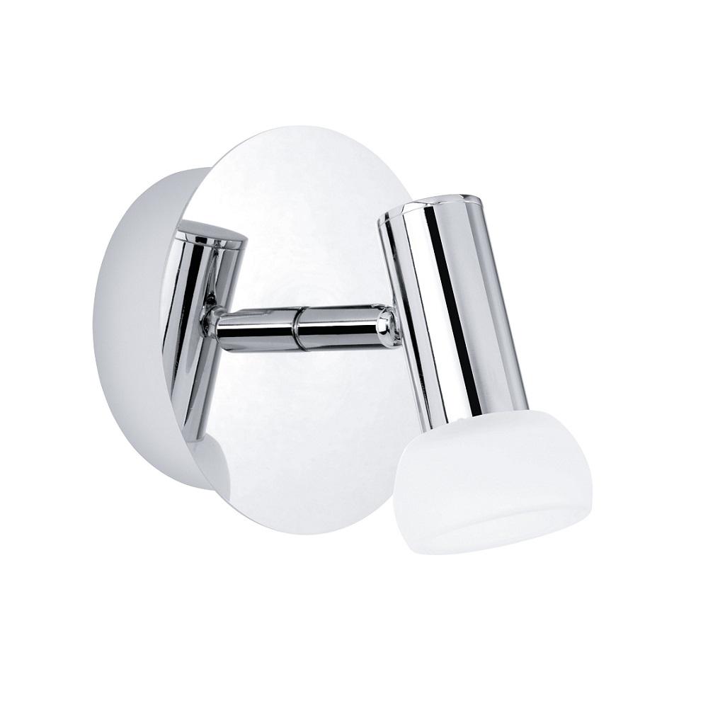 LED-Wandstrahler - Chrom - Glas Weiß