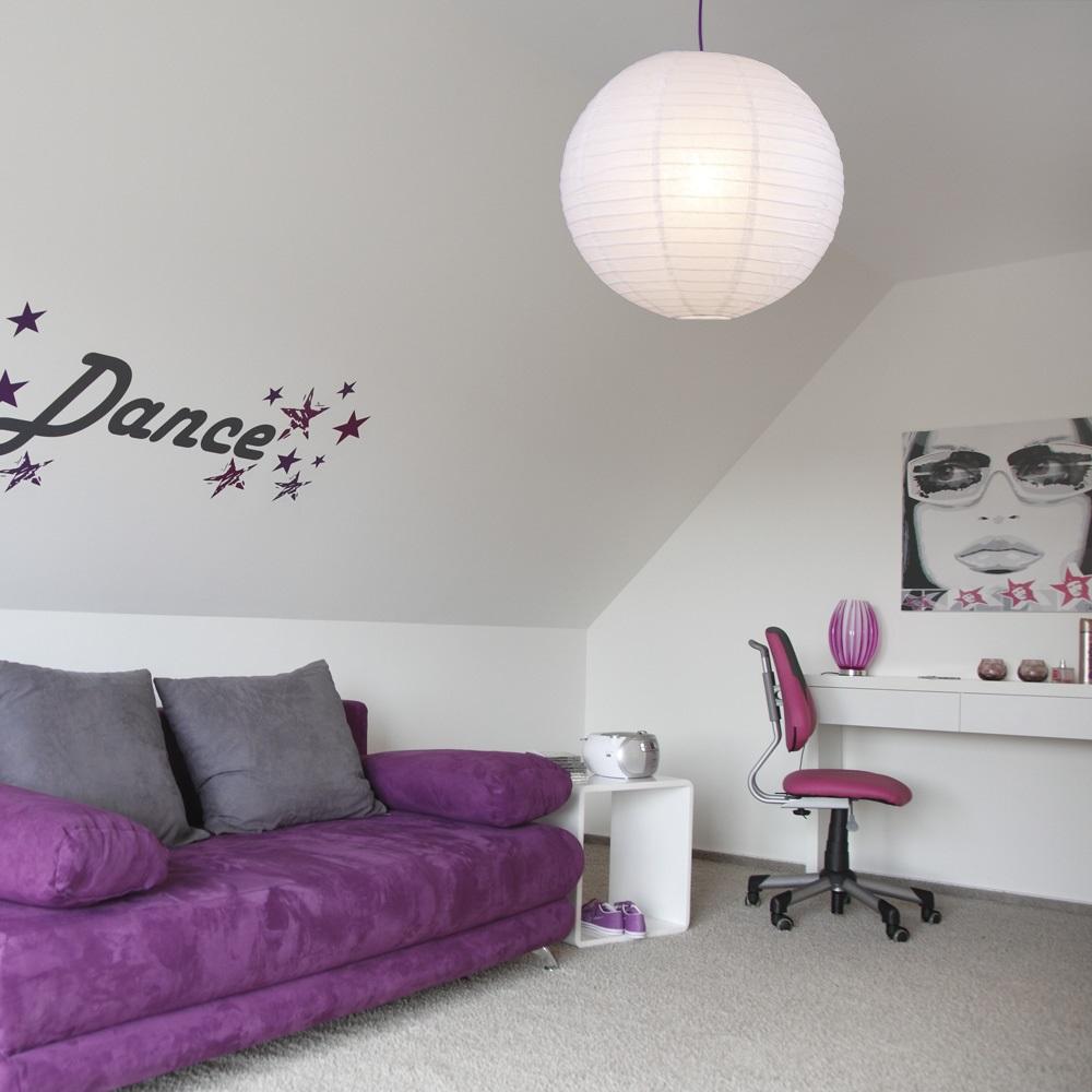 LHG Leuchtenpendel, Aufhängung lila, Japankugel Weiß, 3 Größen