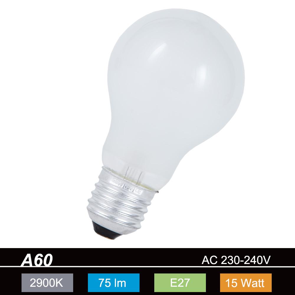 Toplux Leuchtmittel Classic E27 15W matt, A60, ...