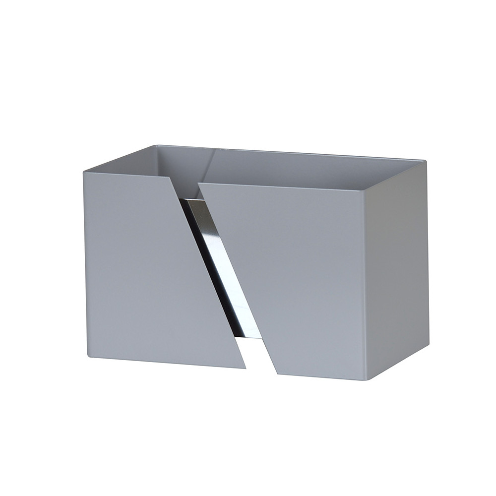 LHG Up & Downlight rechteckig Wandleuchte Arik mit Querschlitz, modern, grau, Licht nach oben & unten, inkl. 5W LED