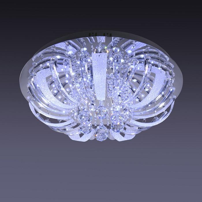 LHG Deckenleuchte mit Glasbehang  inkl. LED+ 10x 14W Halogen