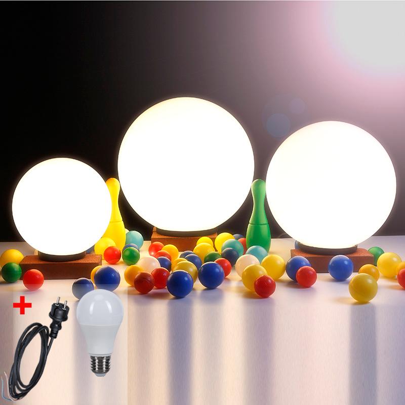 LHG Kugelleuchten, 3er Set, 2 x 25 cm & 1 x 40 cm, mit Kabel, inkl. LED