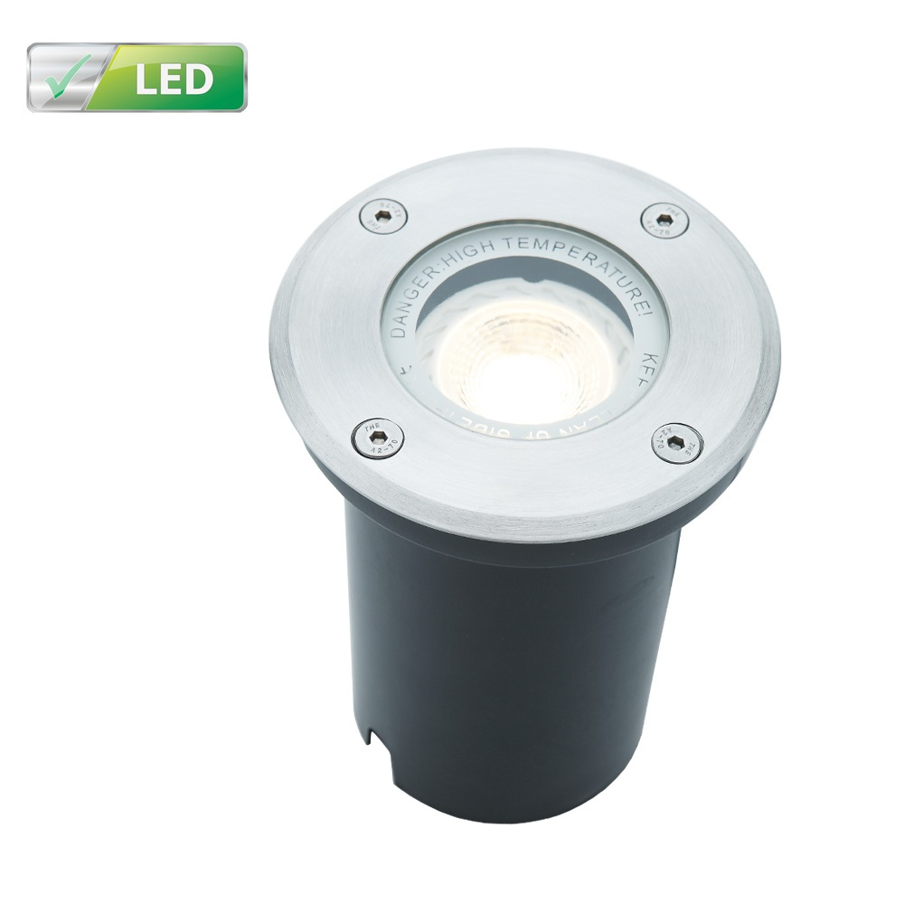 LHG LED Bodeneinbaustrahler, Aluminium, 16cm Einbautiefe, rund