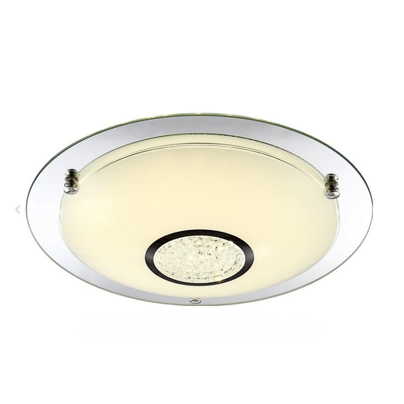 LHG LED Deckenleuchte Opalglas-Spiegelglas-Kristall - Ø 41,5cm