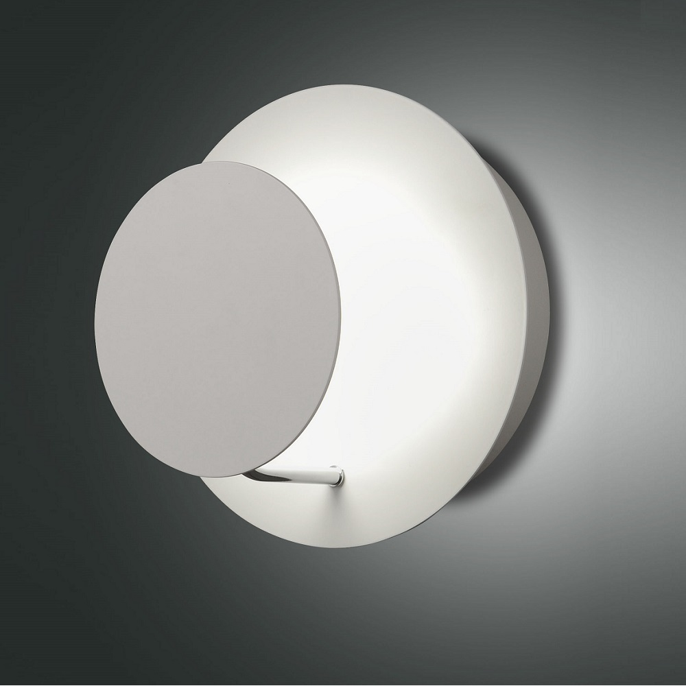 Moderne LED Wandleuchte in weiß, 1-flg, indirekt