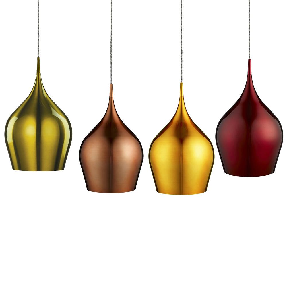 Moderne Pendelleuchte aus Aluminium in 4 Farben, 26 cm