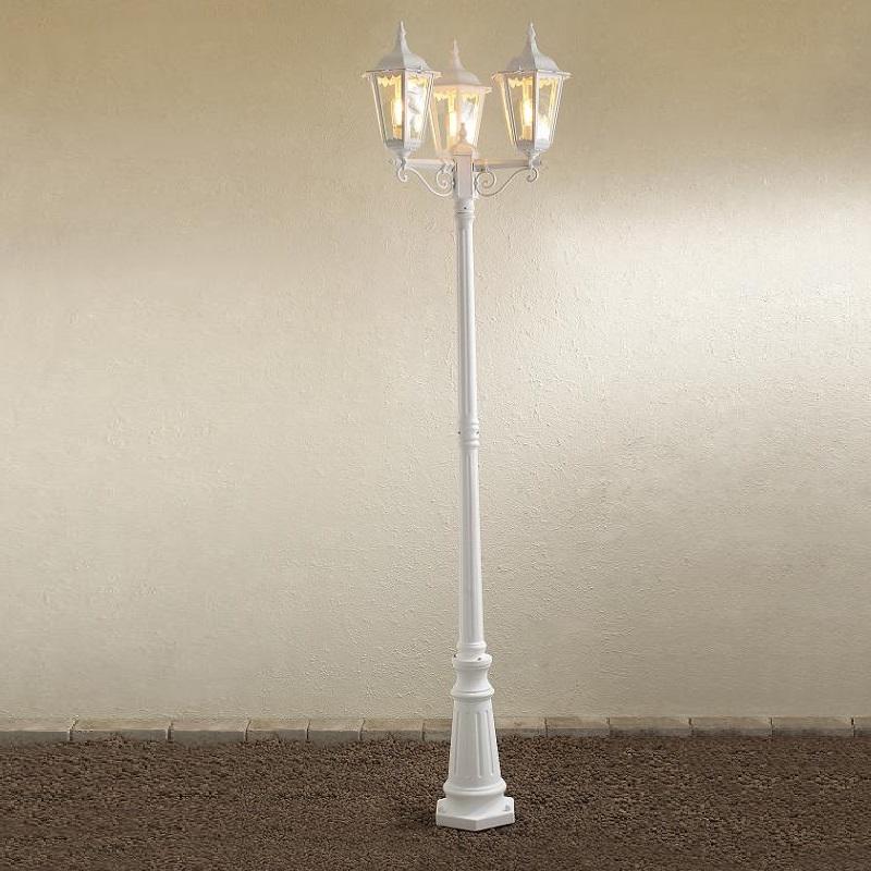 Konstsmide Nostalgische 3-flammige Mastleuchte in Weiß weiß 7217-250 | Lampen > Aussenlampen > Sockelleuchten | Konstsmide