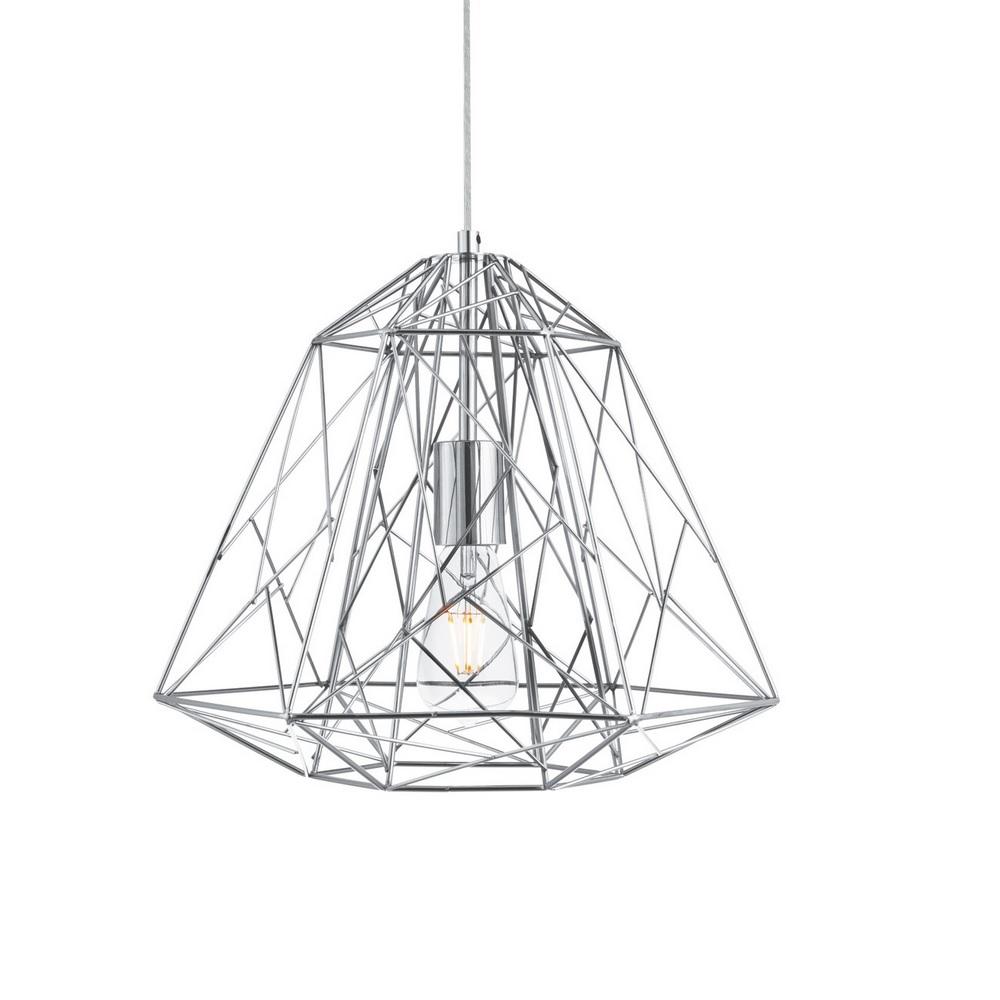 Pendelleuchte Geometric Cage aus Metall im Industrie Design in 2 Oberflächen