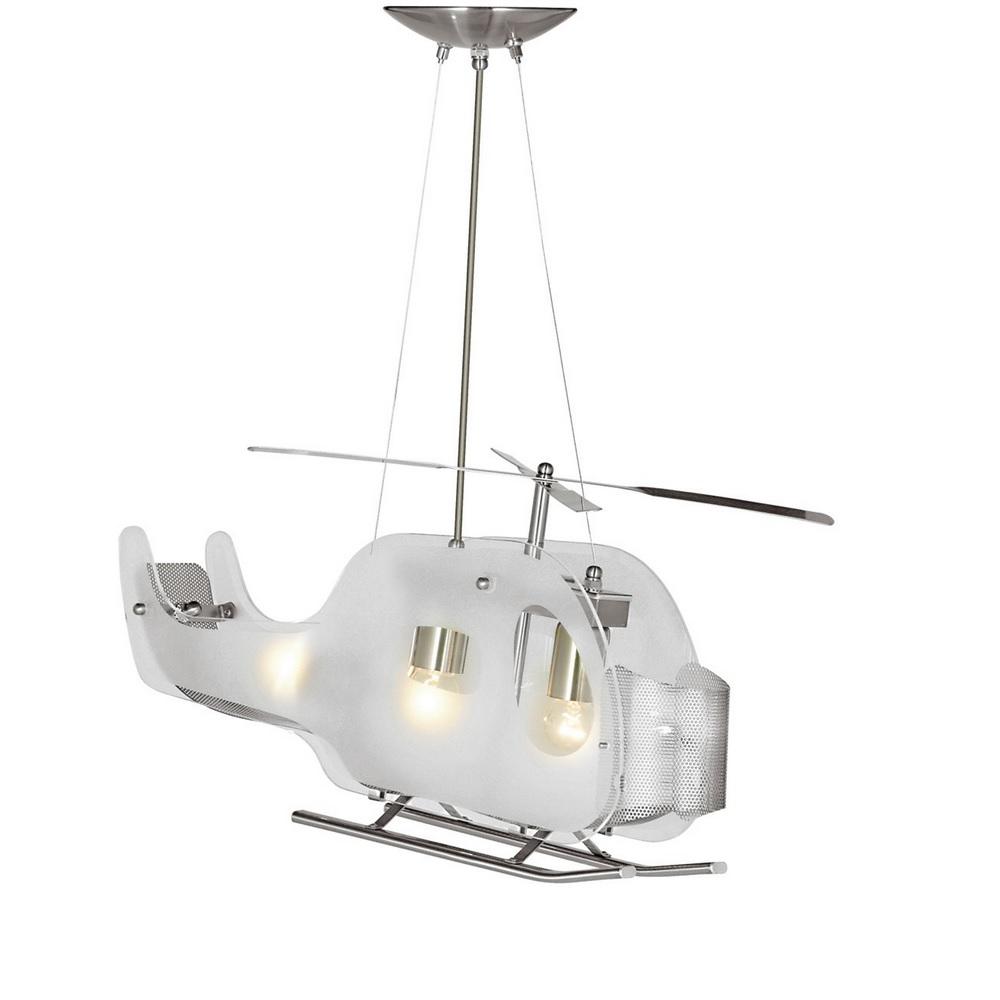 Pendelleuchte Helicopter aus Glas und Metall