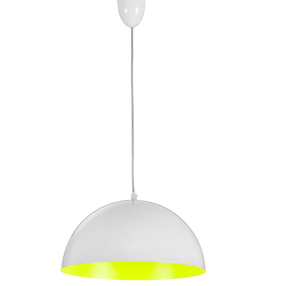 Pendelleuchte Hemisphere Fluo Weiß / Gelb, 33,5 cm