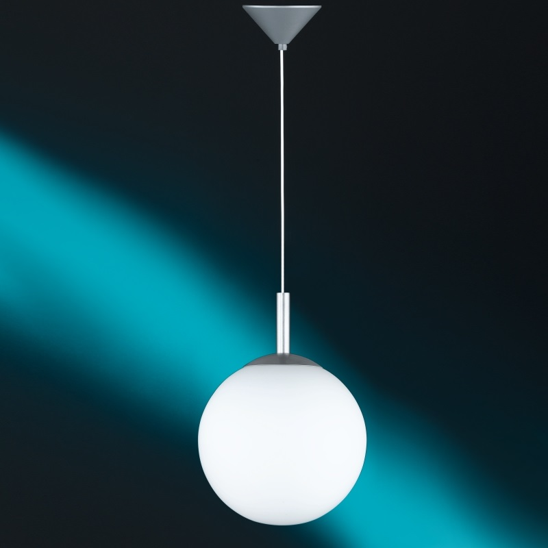 Pendelleuchte, Kugel, Opalglas, Fassung E27 LED geeeignet, 3 Größen
