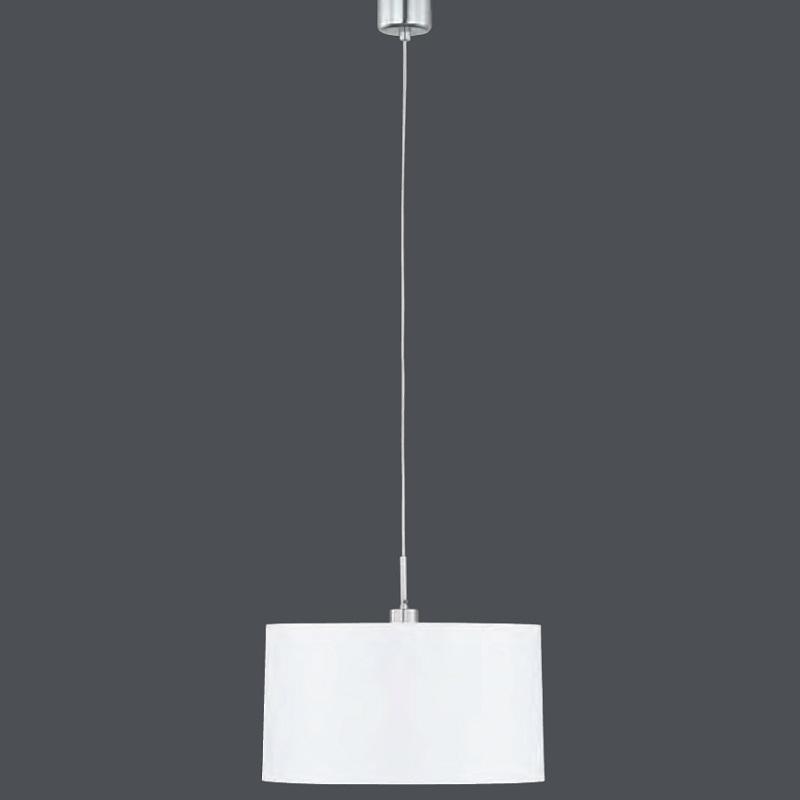 Pendelleuchte Loop mit Chintz-Schirm weiß 40 cm