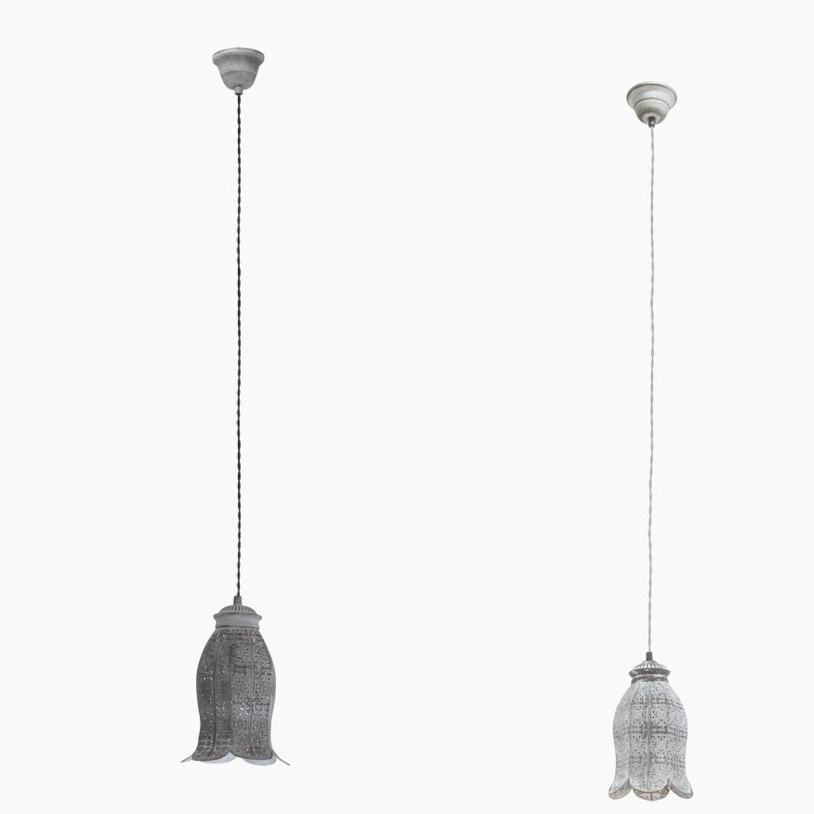 Pendelleuchte Vintage-Laternenform, Grau-Patina oder Dunkgelgrau