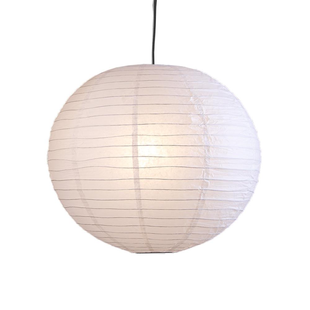 Pendelleuchte, Japankugel, weiß, D 50 cm, inkl. Schnurpendel