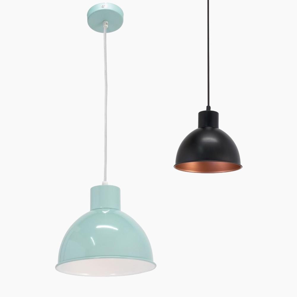 Pendelleuchte, Retro-Design, 21 cm, 2 Farben