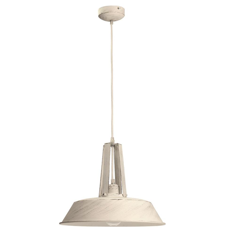 Pendelleuchte, Shabby Chic, D 46,5cm, antik weiß, E27 LED geeignet