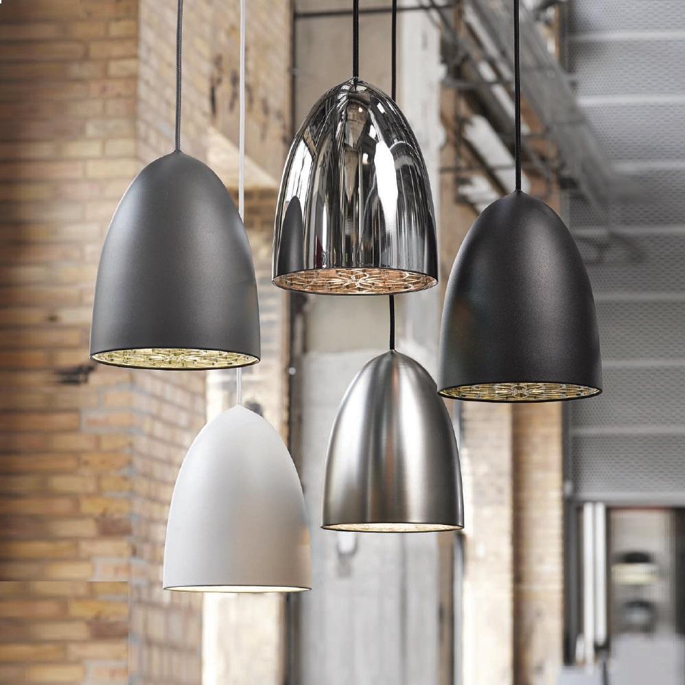 Pendelleuchte, Dekoreinhänger, stahl, Fassung E27 für LED Leuchtmittel