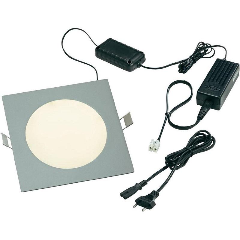 Esotec Quadratische LED Panelleuchte mit 120 LE...