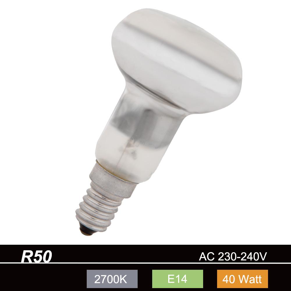 R50 Reflektorlampe E14, 40 Watt, Abstrahlwinkel 35°