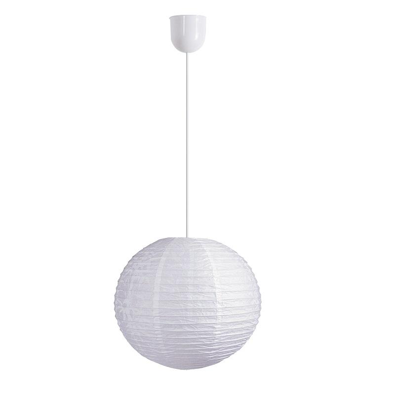 LHG Reis-Papierlampenschirm Ø in 40cm in Weiß