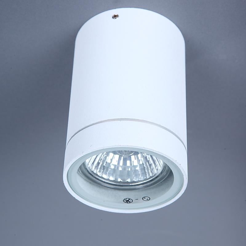 LHG Runder Aussenaufbaustrahler weiß, incl. LED 5w