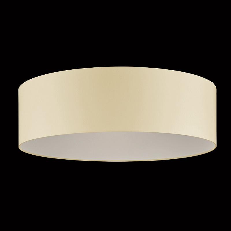 Runder Lampenschirm, Chintz Stoff creme 75 cm