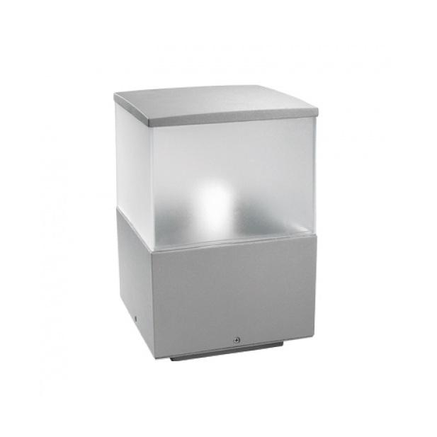 LEDS Schlagfeste Sockelleuchte IK10, Höhe 23cm, IP54 aus Aluminium mit hohem Reinheitsgrad - in Grau grau 10-9386-34-M3 | Lampen > Aussenlampen > Sockelleuchten | Anthrazit | Aluminium | LEDS